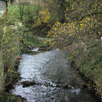 Stream that runs through the village